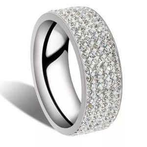 Jewelry - ✨ New! Crystal Clear Stainless Steel Eternity Band